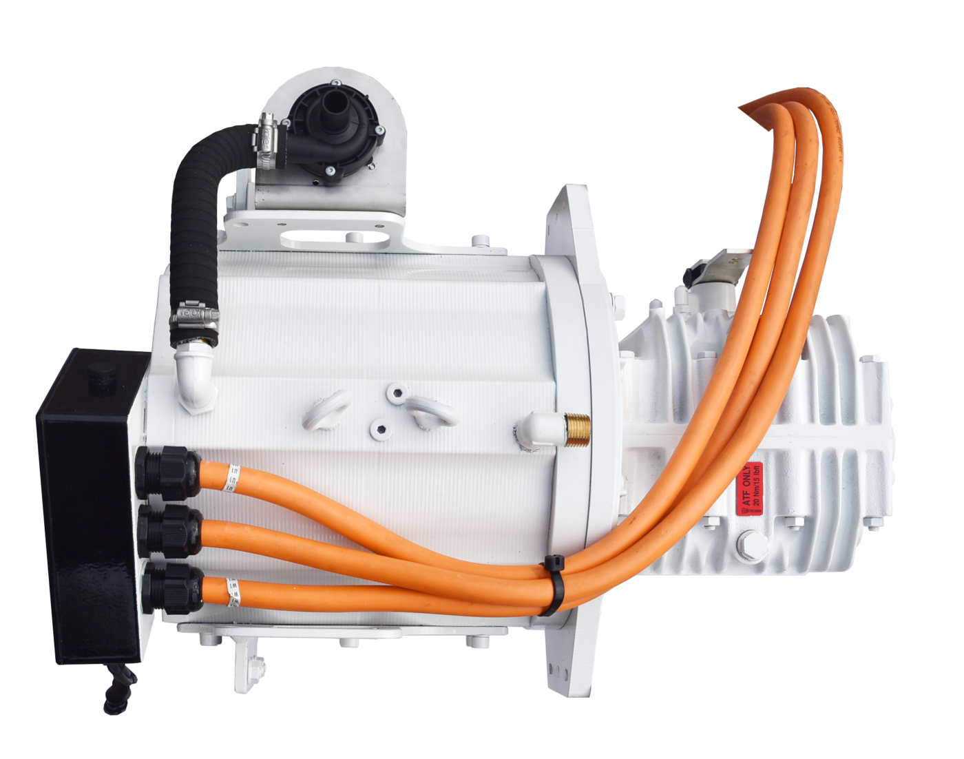Website afbeelding, Imansson Elektromotor Marine, 19 kW 48 Volt, bovenaanzicht (keerkoppeling)