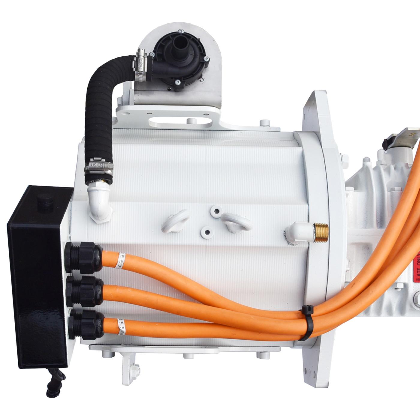 Website afbeelding, Imansson Elektromotor Marine, 19 kW 48 Volt, bovenaanzicht (keerkoppeling) sq