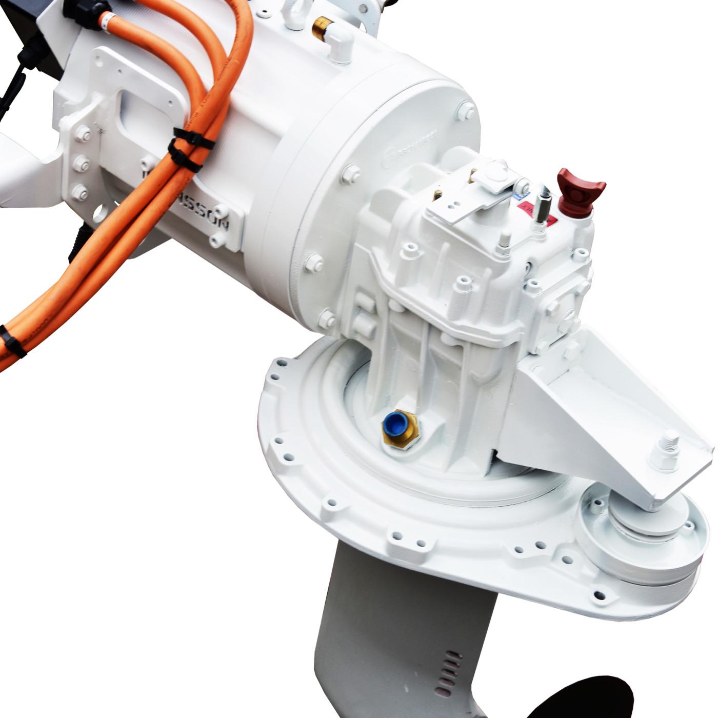Website afbeelding, Imansson Elektromotor Marine, 19 kW 48 Volt, bovenaanzicht (saildrive) sq