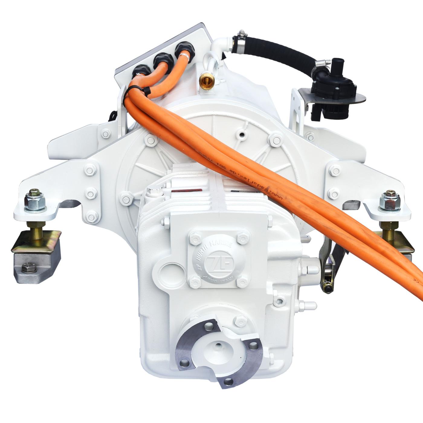Website afbeelding, Imansson Elektromotor Marine, 19 kW 48 Volt, vooraanzicht (keerkoppeling) sq